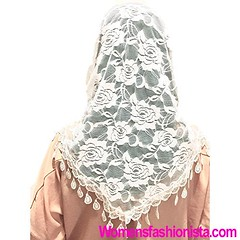 Mass Veil Catholic Church Mantilla White Chapel Lace Shawl or Scarf Latin Mass Head Cover with a Handy Storage Pouch (White) (womensfashionista) Tags: catholic chapel church cover handy lace latin mantilla mass pouch scarf shawl storage veil white