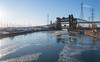 Calumet River (urbsinhorto1837) Tags: boatyard bridge calumetriver chicago city day eastside ice industrial light outdoors skyway southeastside sunrise urban water