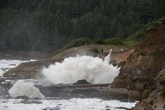 DSC_2215sg (rlowe3) Tags: sea foam shoreline storm cape perpetua wave tidal surge oregon coast