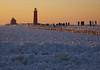 Grand Haven Lighthouse (chuckh6) Tags: lighthouse ice sunset grand haven