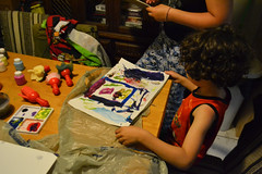 Painting with Friends (Vegan Butterfly) Tags: kids children friends friendship people paint painting art artwork play playing