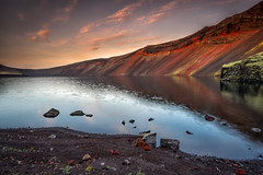 Volcanic Soil (Perez Alonso Photography) Tags: iceland beautiful crater volcano soil landscapes sunset lake water lago agua sky rocks marte colors colorful landmannalaugar