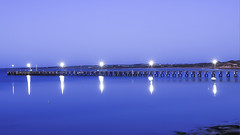 ICONIC JETTY STREAKY BAY (Images by Satinder Singh) Tags: south australia streaky bay jetty sa jetties evening colours bright shiny blue night photography nice pictures light lastlight
