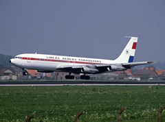 ZP-CCE (wiltshirespotter) Tags: boeing 707 brussels limeasaereasparaguayas lap
