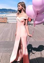 Light Pink (ZNU Fashion) Tags: dress eveningdress nightdress maxidress offshoulderdress sexydress pinkdress mermaid promdress