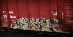 spider (timetomakethepasta) Tags: spider tbk arys trouble biter freight train graffiti art cirr boxcar benching moniker