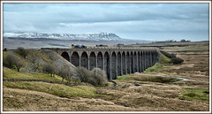 Blue Notes (david.hayes77) Tags: networkrail yorkshire yorkshiredales freight drs directrailservices class66 shed 2018 winter snow penyghent settleandcarlisle sc ribblehead chapelledale viaduct battymossviaduct 66302 threepeaks 6c89 ballast