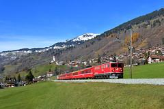 "Ge 6/6 II 705 ""RhB"" Saas (Matthias Greinwald) Tags: ge 66 ii 705 rhb rhätische bahn personenzug zug prättigau saas"