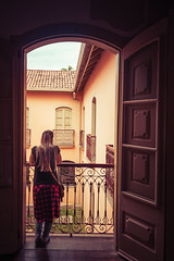 The balcony (Ederson Gomes) Tags: morena sacada oldhouses female sp brazil canon canon1635mm brunet style streetwear solardamarquesa musean museu