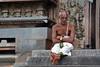 "405-""La hora de meditar"". (Ambrispuri) Tags: ambrispuri asia india portrait retrato man meditating religion barefoot clock reloj"