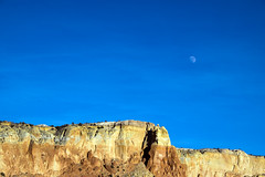 moon over mesa (Paul and Jill) Tags: chimneyrocktrail ghostranch abiquiu newmexico moon