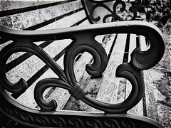 (GLKPhotos) Tags: bench seating seat metal iron rust wood old garden furniture details textures contrast tonalcontrast tones blackandwhite monochrome mono bw uncropped decay curves design paint weatherworn gx8 lumix panasonic