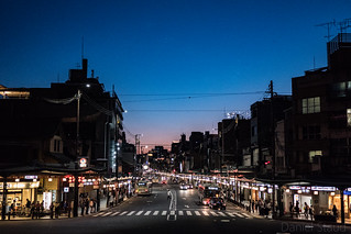 Sunset over Shijo Dori