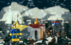 Cold Is The Mountaintop (Andrew Cookston) Tags: lego dc comics doctor dr fate kent nelson the himalayas himalayan mountains superhero custom ug minifigure minifigures minifig minifigs macro stilllife photography andrew cookston andrewcookston