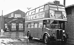London transport RT5 at Carshalton Depot 1959. (Ledlon89) Tags: rtbus aecregent aec rt london transport lt lte lptb londonbus londonbuses bus buses londontransport vintagebus vintagebuses 1950s 1959 1953
