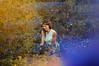 Entre la felicidad y la melancolía (Kathy Chareun) Tags: blue azul yellow amarillo model modelo bride novia light luz nature naturaleza flores flowers day dia atardecer sunset field campo leaf hojas plants plantas art arte fineartphotography fineart ps photoshop lr lightroom dress vestido colour color wood forest bosque fairytale tale cuento fairy