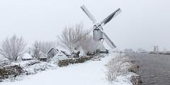 Kinderdijk this Winter. (Wim Boon Fotografie) Tags: wimboon unescoworldheritage snow windmill canoneos5dmarkiii canonef1635mmf4lisusm holland netherlands kinderdijkmills winter