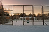 Gate To The Snow Covered Tennis Court (k009034) Tags: 500px trees field sky frozen city sunset winter door gate snow fence town empty mailbox frost sign iron sports detail open tennis street light no people boardwalk building exterior court finland copy space oulainen teamcanon