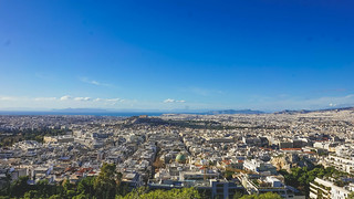 Lycabettus Hill view of athens