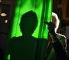 Sled Literature (MTSOfan) Tags: shadow sled green sunbeam maryjo reading finger inadvertent gesture arthritis