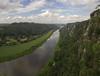 along the rim (koaxial) Tags: p6205653ap6205661p1ma koaxial elbe river fluss landscape landschaft elbsandstein mountains berge rim rand clouds wolken view aussicht stitch hugin
