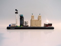 Liverpool Waterfront (Fithboy) Tags: lego liverpool uk united kingdom north merseyside mersey liver building unity tower radio city skyline architecture england albert dock