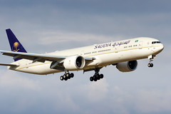 HZ-AK44 Saudi Arabian Airlines Boeing 777-368(ER) (buchroeder.paul) Tags: hzak44 saudi arabian airlines boeing 777368er lszh zrh zurich airport switzerland europe final