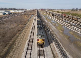 NS 1074 (EMD SD70ACe) SoCo Yard Marion, Arkansas