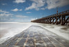 De pier (Schotje) Tags: blankenberge zeelandschap zee lange sluitertijd lucht wolken blauw wit golfbreker belgie kust water golven noordzee