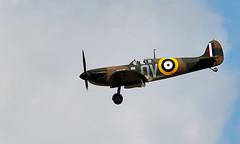 Spitfire - Baseleg (Bernie Condon) Tags: vickers supermarine spitfire warplane fighter raf royalairforce fightercommand ww2 battleofbritian military preserved vintage aircraft plane flying aviation
