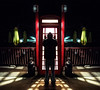 Locked Out (Matt Molloy) Tags: mattmolloy photography digitallymirrored symmetrical night old red phonebooth light glowing umbrellas fence me myself strange spooky perrysplace mainstreet seeleysbay ontario canada lovelife