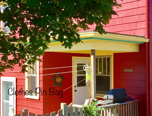 'Clothes Pin Bag' -- Home in Lunenburg (NS) September 2017