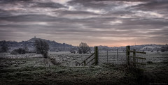 Tor (MarkWaidson) Tags: glastonbury tor frost sunrise deer clouds pink pastel