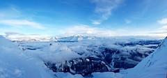 Home spot (The Sleepwalker ) Tags: mountain snow mont blanc sommet col ciel sky white blue bleu nuage cloud ski montblanc clusaz hiver winter