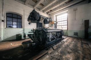 Weaving machine in the morning light