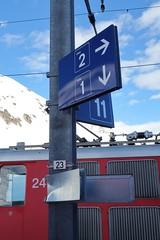 MGB - Station Oberalppass (Kecko) Tags: 2018 kecko switzerland swiss schweiz suisse svizzera innerschweiz zentralschweiz uri oberalp pass oberalppass matterhorngotthardbahn railway railroad mgb eisenbahn bahn bahnhof station winter schnee snow lawine avalanche tafel sign schaden damage swissphoto geotagged geo:lat=46660740 geo:lon=8670090