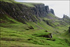 Hikers beneath the cliffs - Quiraing, Isle of Skye, Scotland (TravelsWithDan) Tags: hikers landscape candid green cliffs rockformation scotland outdoors canong16 ngc