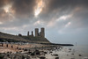 _____H_____ (Kevin HARWIN) Tags: reculver towers grass beach sand rocks stones water sea wet clouds sunset birds sky canon eos 70d 1755mm lens kent south east uk engalnd britain