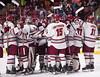 Hockey v Lowell -21 (dailycollegian) Tags: carolineoconnor umass amherst mullins center press conference umasslowell lowell shutout win matt murray niko hildenbrand coach carvel
