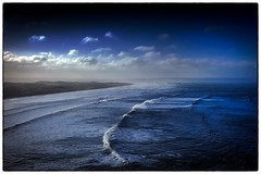 Because that was the river And this is the sea! (Livesurfcams) Tags: saunton croyde devon fuji xpro1 27mm pancake surf waves spray