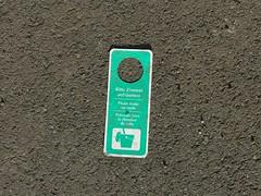 Ordnung hat Pause (mkorsakov) Tags: münster city innenstadt doorhanger türhänger gebot hinweis grün green strasse street grau grey