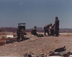 Setting up the mortar 1988 Cuba (1811/1812 USMC) Tags: cuba guantanamo bay usmc marine marines mortar 81mm m29a1 training firing range sky carribean
