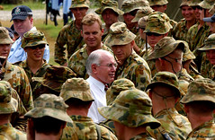 Australian Prime Minister John Howard visits the troops. Solomon Islands 2003. Photo: Gary Ramage © Australian Defence