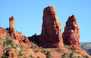 Two Nuns Rock Formation, Chapel of the Holy Cross, Sedona, AZ