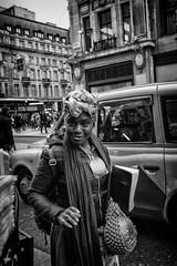 Black Magic Woman (bensonfive) Tags: blackmagic streetlife streetphotography monochrome oxfordstreet london fujifilmx100s