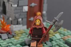 Hunter (-Matt Hew-) Tags: lego castle kingdoms moc technique hunter hunted axe