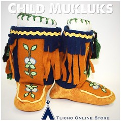 Child #mukluks made by the Whatì Sewing Group now on our website https://onlinestore.tlicho.ca (Tlicho Online Store) Tags: mukluks
