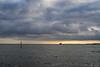 the bird (beginner17) Tags: ostsee sassnitz ruegen meer steine wellen himmel wolken sonne sonnenuntergang sonnenstrahlen kormoran vogel schiff fischer sony a7ii minolta rokkor 50mm