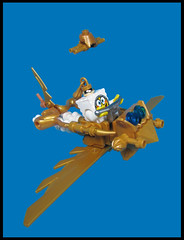 Skybob Steampants... (Karf Oohlu) Tags: lego moc minifig spongebobsquarepants steampunk flyer golden