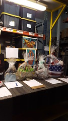 Auction Baskets at Industrial Playground Art Show.